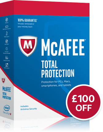 McAfee Total Protection £100 off